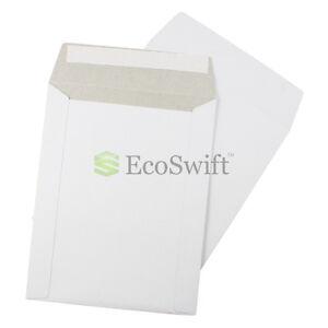 "25 - 7"" x 9"" White CD/DVD Photo Ship Flats Cardboard Envelope Mailer Mailers 7x9"