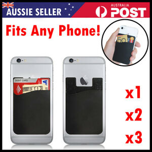 3M Smart Silicone Mobile Phone Wallet Card Stick On Cash Credit Opal Card Holder