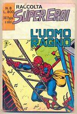 raccolta SUPEREROI n. 8 - CORNO ED. -1981 - DISCRETA+ - originale CON POSTER