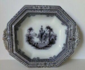 Mulberry Ironstone Transfer Ware John Alcock Cologne Serving Platter