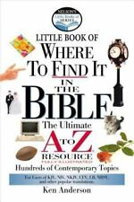 Where To Find It In The Bible Nelson's Little Book 2001 Pocket Sized Reference