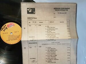 ALAIN BARRIERE 1967  ♦ LP TEST PRESSING BARCLAY UNIQUE + FICHE - 33 TOURS   ♦