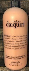 Philosophy Melon Daiquiri Super Sized 32 oz Shampoo, Shower Gel, Bubble Bath NEW