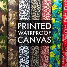 Printed Canvas Fabric Waterproof Outdoor 60