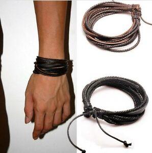 LEDERARMBAND Seil Leder Armband Mittelalter Gothic Wikinger Herren Damen Unisex