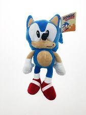 Peluche originale Sonic azzurro Sega 30 cm velluto prodotto ufficiale riccio