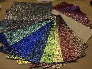 Craft Chunky Glitter Fabric Wallpaper Grade 3 3D A6 A5 A4 A3 A2 A1 Sheets Silver