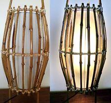 BALI RATTAN WOVEN BAMBOO DESK TABLE BEDSIDE LAMP LANTERN LIGHT BALINESE 53CM