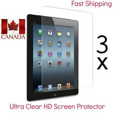 3x Ultra Clear HD Screen Protectors for iPad Air & iPad Air 2 with 3 free cloths
