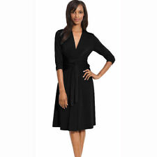 Polyester Casual Wrap Dresses