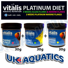 Vitalis Marine, Algae and Platinum Flake -  Marine Fish Food Platinum plan 3x30g