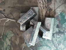 Lead Ingots - 2 Pounds - Cleaned For Casting/Melting assorted sizes, shapes, 2#