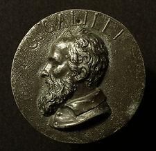 Große Hohlgussmedaille o.J. auf den Universalgelehrten Galileo Galilei