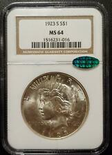 1923-S PEACE DOLLAR - NGC - MS 64 - CAC CERTIFIED - #016