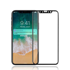 iPhone X Premium Screen Protector Color 9H Tempered Glass - Black