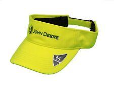 NEW John Deere Neon Green Yellow  Memory Fit Visor Hat Cap LP70340