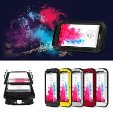 Love Mei Aluminum Metal Gorilla Glass Dustproof Case For LG G6 G3 G4 G5 V30 V20