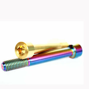 4pcs M10*25/30/35/40/80  Titanium Cylinder Chamfer Disc brake clamp Fixed Screws