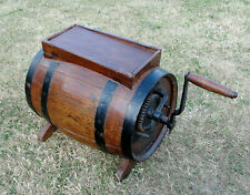 """1870s VICTORIAN """"TABLE TOP"""" WOODEN  BUTTER CHURN in jolly nice condition"""
