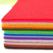 41PCS 15x15cm Colorful Felt Sheets Rainbow DIY Craft Polyester Wool Blend Fabric