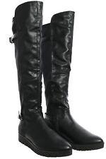 Tamaris Overknee Stiefel Damen Schuhe Boots Stiefeletten Lederoptik Keilabsatz