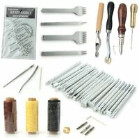 34pcs/set leather craft punching tools Diy hand-stitched sewing engraving work