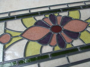 Newly crafted Traditional Stained Glass Window Panel  782mm by 349mm