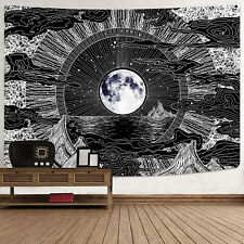 Element Style Tapestry Decorative Wall Hanging Moon Psychedelic Gothic Tapestry