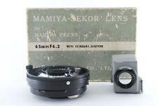 """EXC +4"" Mamiya Sekor 65mm f6.3 Lens Finder universal press super 23 Japan803029"
