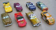 Disney Pixar Cars Lotto di 8 modellini JEFF, MCQUEEN, TOW CAP, ALTRI Nuovi Sfusi