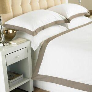 HOTEL QUALITY ORIGINAL 200 THREAD COUNT BORDER DUVET COVER SET BEDDING SETS SIZE