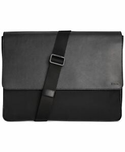 Calvin Klein Nylon and Saffiano Leather Messenger Bag Color:BLACK Size:One Size