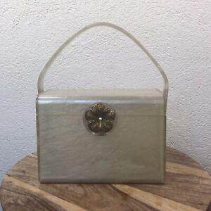 Vintage l 50s Wilardy Lucite Pinup Glam Box Purse