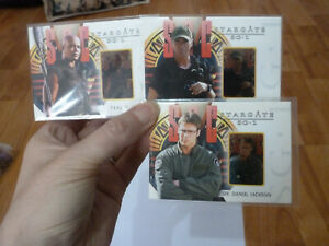 Stargate SG-1 Season 6 Rare 3 Cards Stargate Gallery Set G1,G3 &G4