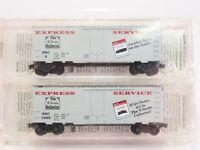 N Scale Micro-Trains MTL NSC 8-95 4th Anniversary Box 40' Car 2-Pk SEALED
