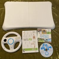 Nintendo Wii Fit Balance Board Exercise Controller (Board Only), Steering Wheel