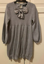 M&S Autograph silver jumper dress size 5-6 years