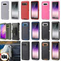 For Samsung Galaxy S10/S10+ Plus Armor Case Belt Clip Heavy Duty Holster Cover