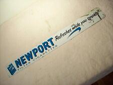 1960~NEWPORT~FILTER CIGARETTES~REFRESHES~ORIG. 24x3 DOOR PUSH ADVERTISING SIGN~
