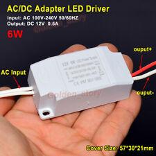 AC-DC Convertidor AC 110V 220V 230V 12V 0.5A 6W LED Driver transformador Adaptador