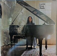 CAROLE KING~MUSIC~LYRIC INSERT~WHITE AND SILVER LABEL~SP-77013~USA PRESS~EX-/EX