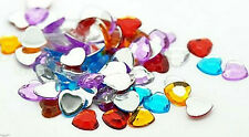 25 Hearts 8 mm x 8 mm Acrylic Scrapbooking Crafting Love Wedding Baby Scatter*