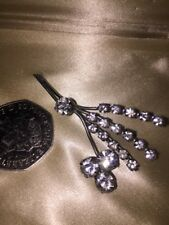 Rhinestones 1930's With C Clasp A Silver Tone Brooch With