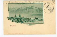 "Epicerie Advertising—Lausanne Switzerland ""Oscar Winandy"" CPA Antique 1901"