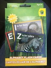 National Geographic Kids Alphabet Flash Cards  NEW