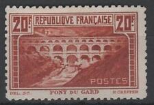 "FRANCE STAMP TIMBRE N° 262B "" PONT GARD 20F CHAUDRON DENTELE 11"" NEUFxx TTB K804"