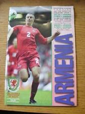 01/09/2001 Wales v Armenia [At Millennium Stadium Cardiff] & 31/08/2001 U21's v