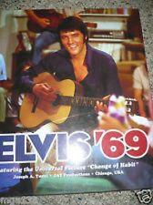ELVIS '69 FEATURING CHANGE OF HABIT<>NEW<>OOP<>Tunzi LTd Edition 2012 HB BOOK