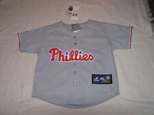 MLB Philadelphia Phillies Kids Baseball Majestic Jersey Sz 24M NWT