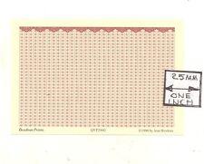 O (1/48) Scale - Elenance - Garnet - Qvt206G Wallpaper model miniature 3pcs